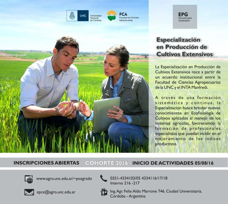 EscuelaGraduados-CultivosExtensivos2016 folleto